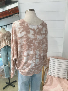 Blush Tie Dye Top
