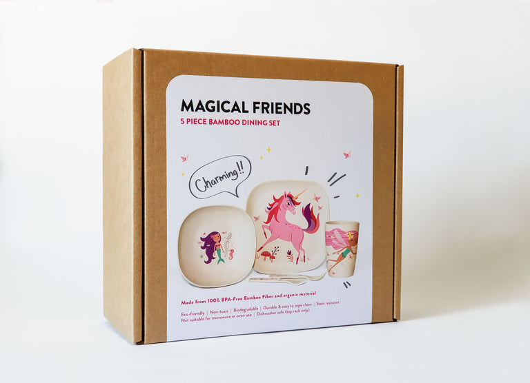 Magical friends Bamboo Dining Set