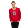 THE OHIO STATE UNIVERSITY Buckeyes Men's Scarlet V-Neck Knit Sweater