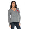 THE OHIO STATE UNIVERSITY Buckeyes Women's Gray Boyfriend Sweater