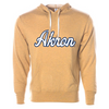 The University of Akron Script Unisex French Terry Hooded Pullover
