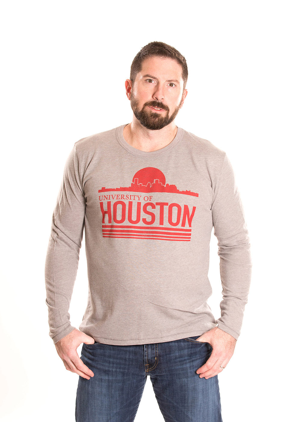 UNIVERSITY OF HOUSTON Cougars Men's Long Sleeve Tee