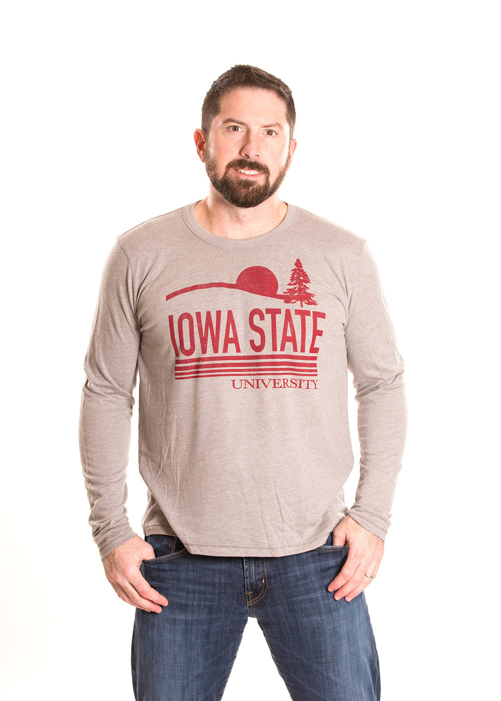 IOWA STATE UNIVERSITY Cyclones Men's Long Sleeve Tee