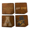 APPALACHIAN STATE UNIVERSITY Reclaimed Barn Beam Coaster Set