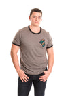 COASTAL CAROLINA UNIVERSITY Chanticleers Men's Ringer Tee