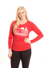 BALL STATE UNIVERSITY Cardinals Women's Long Sleeve Tee