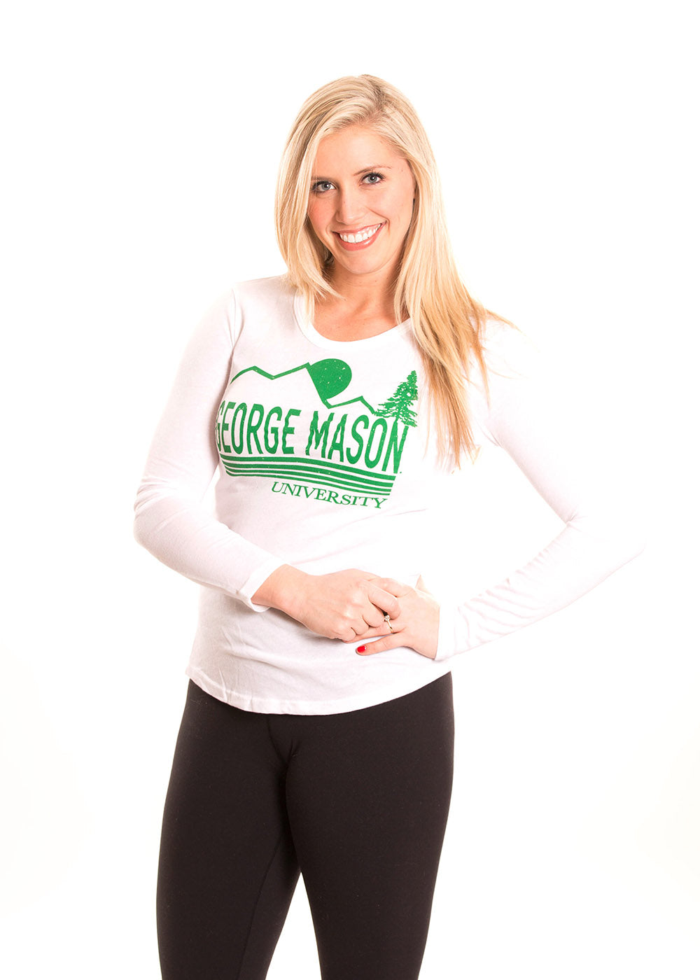 GEORGE MASON UNIVERSITY Patriots Women's Long Sleeve Tee