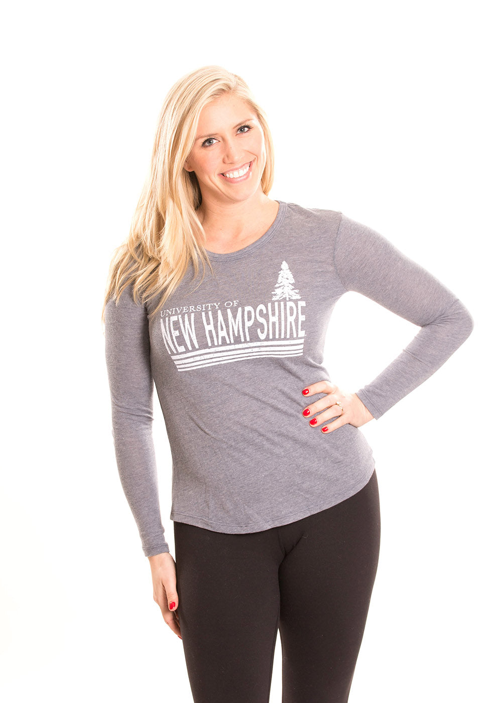 8222add50 UNIVERSITY OF NEW HAMPSHIRE Wildcats Women's Long Sleeve Tee - Alma ...