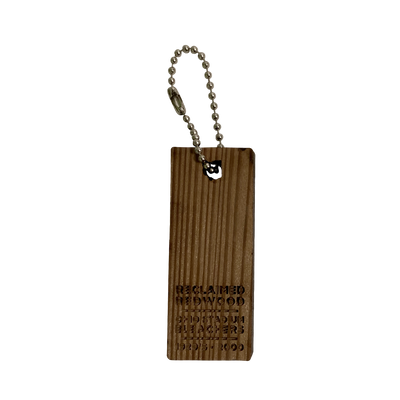 Cleveland Ohio Reclaimed Redwood Keychain