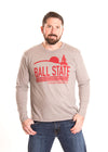 BALL STATE UNIVERSITY Cardinals Men's Long Sleeve Tee
