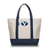 BRIGHAM YOUNG UNIVERSITY Cougars Hudson Sutler Weekender Tote Cream