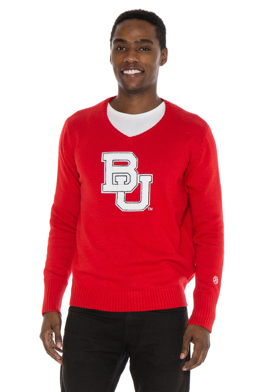 BOSTON UNIVERSITY Men's V-Neck Sweater