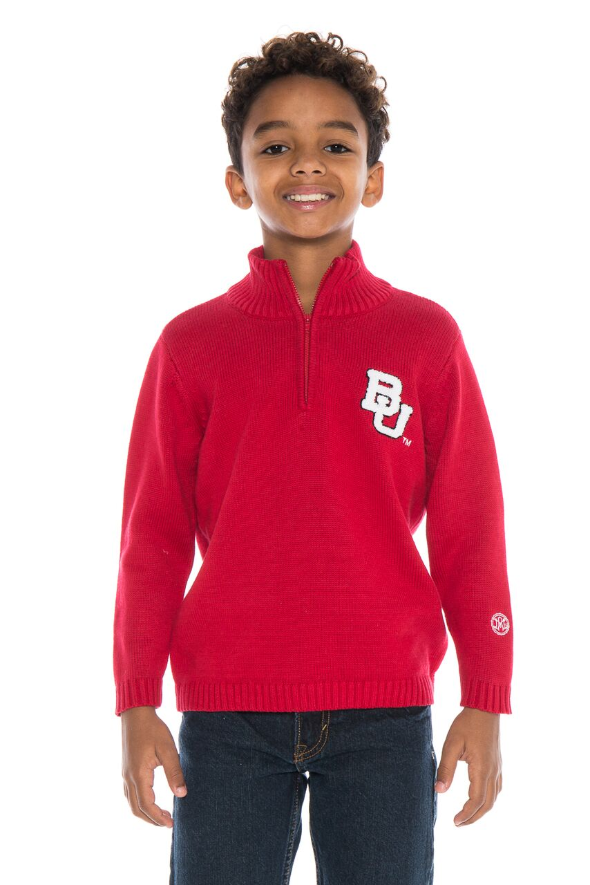 BOSTON UNIVERSITY Boy's Quarter Zip