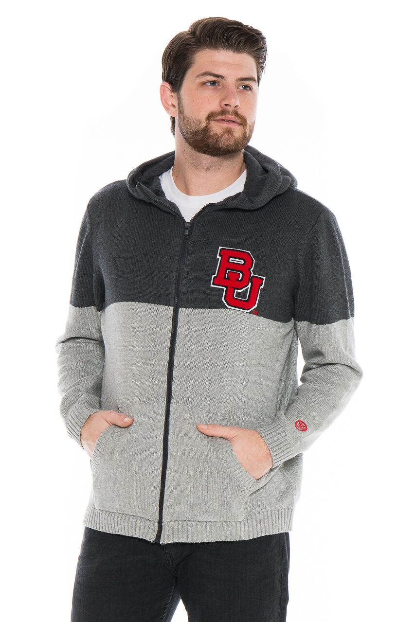 BOSTON UNIVERSITY Men's Color Block Zip