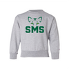 ST. MARY SCHOOL YOUTH CREWNECK SWEATSHIRT SMS EYES GREY