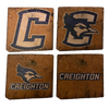 CREIGHTON UNIVERSITY Reclaimed Barn Beam Coaster Set