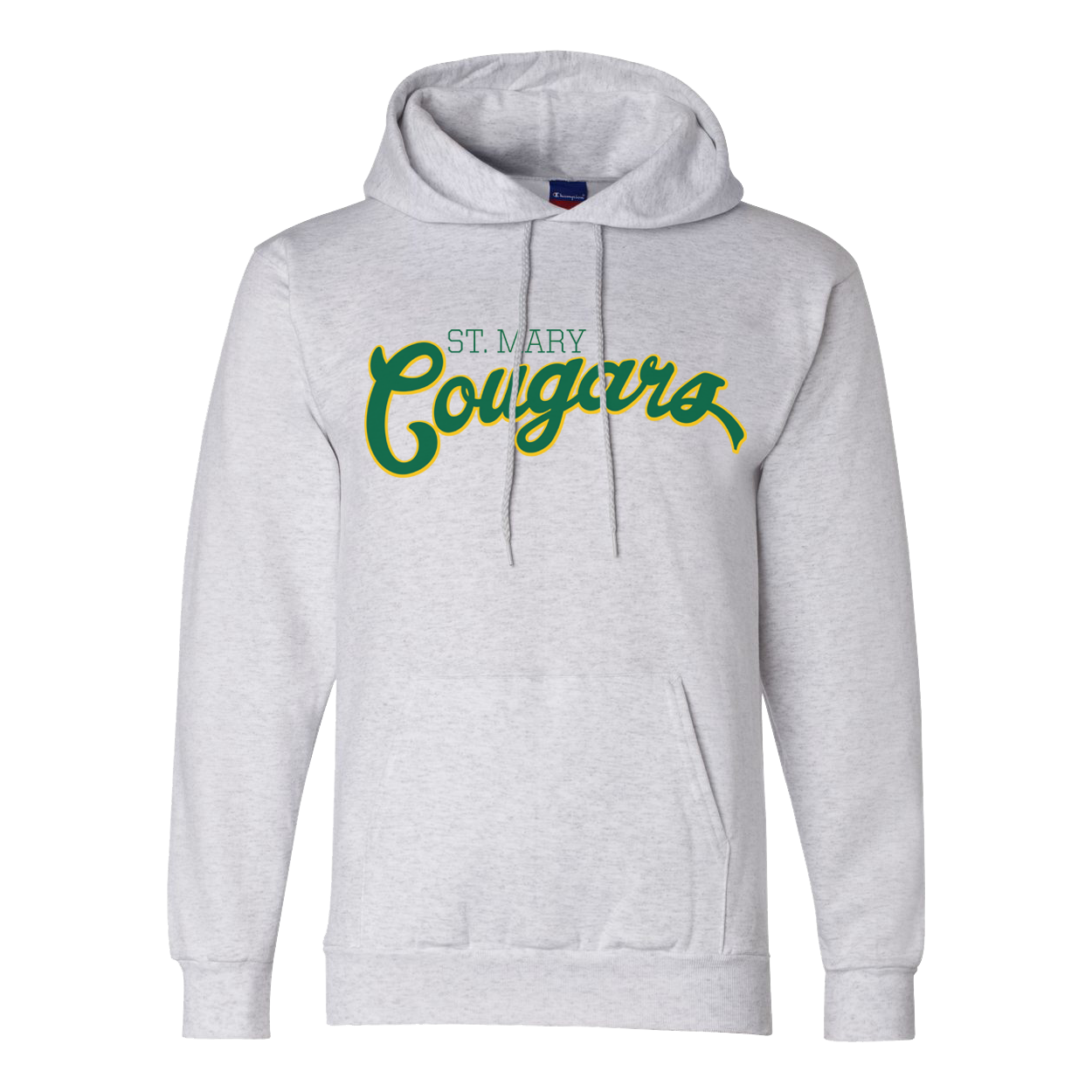 f5b2999679d1 St. Mary School Olde Script Champion Adult 9 oz. Double Dry Eco Pullover  Hoodie