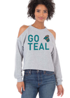 COASTAL CAROLINA UNIVERSITY Chanticleers Women's Cold Shoulder Knit