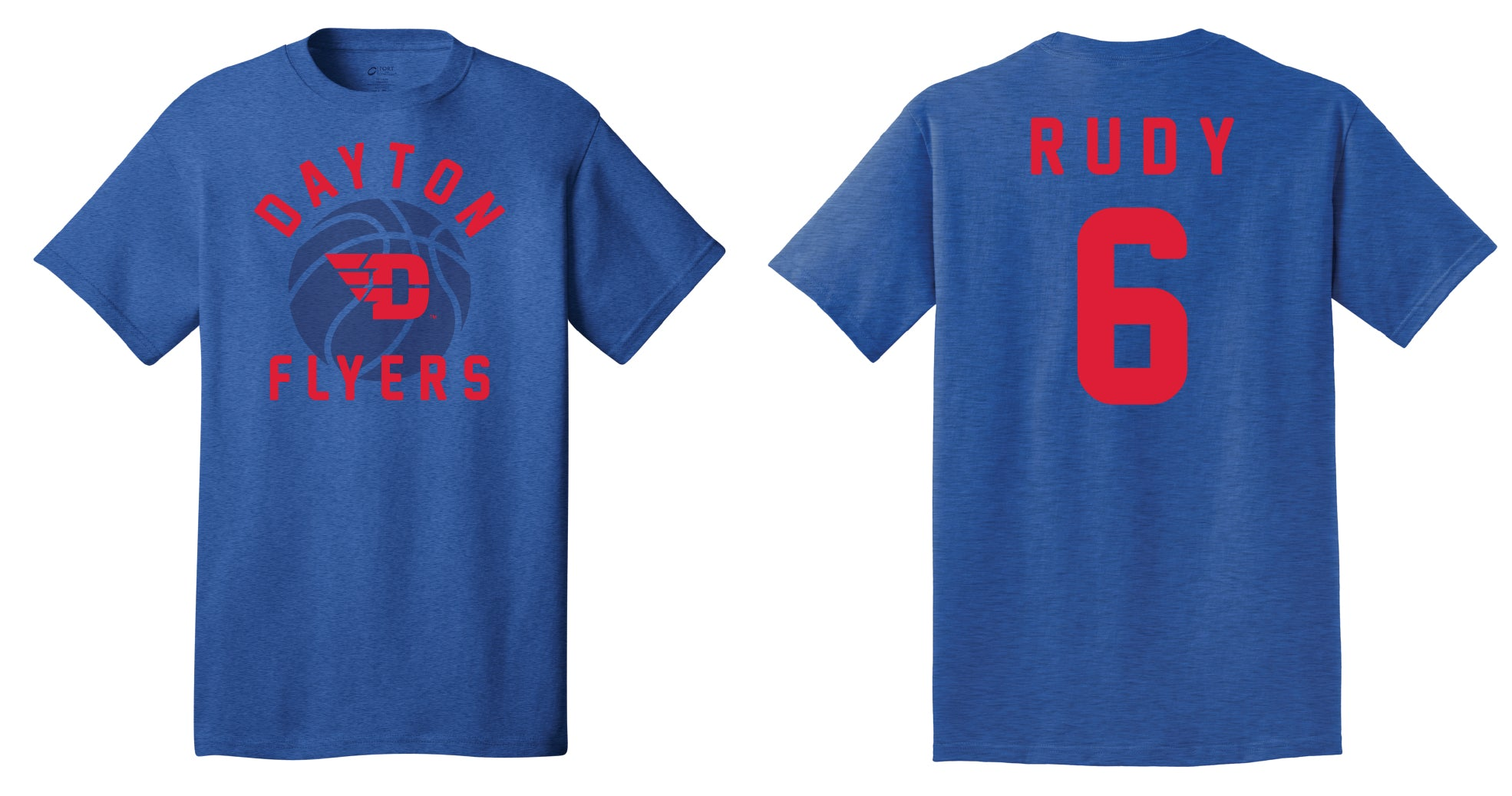 superior quality e940d 14afb UNIVERSITY OF DAYTON Flyers Men's Rudy Basketball Tee