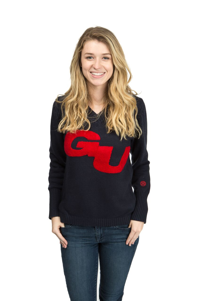 GONZAGA UNIVERSITY Women's V-Neck Sweater