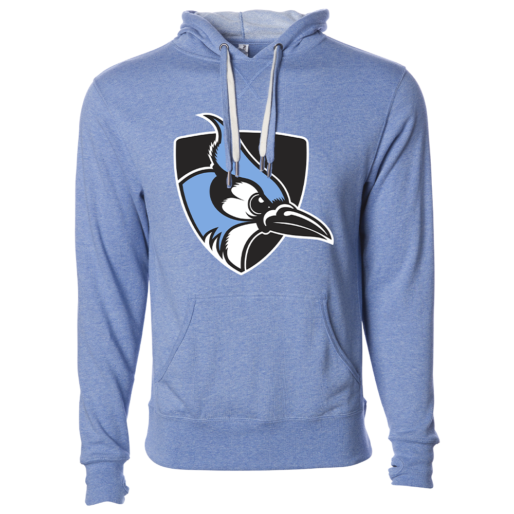 Johns Hopkins University Blue Jay Unisex French Terry Hooded Pullover