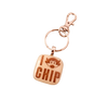 CU Chip Glass Key Chain