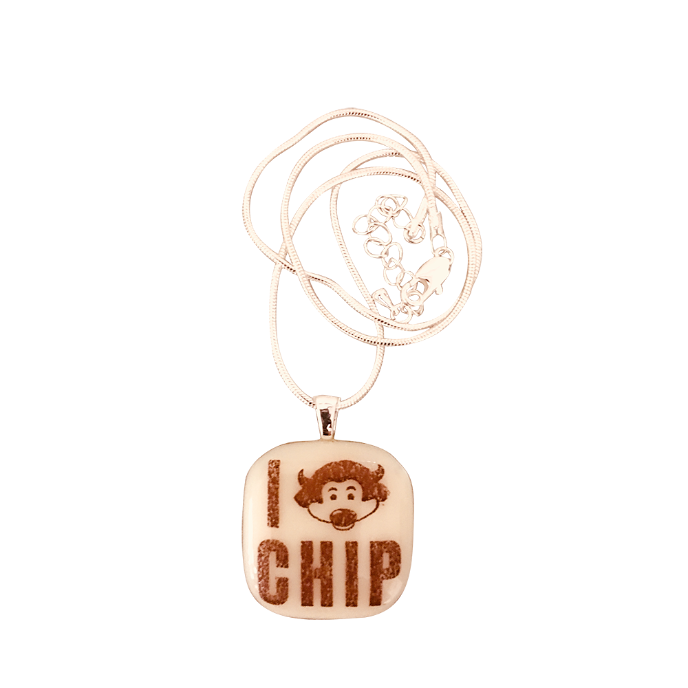 UNIVERSITY OF COLORADO Chip Glass Necklace