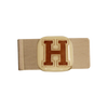 HARVARD UNIVERSITY Glass Emblem Money Clip