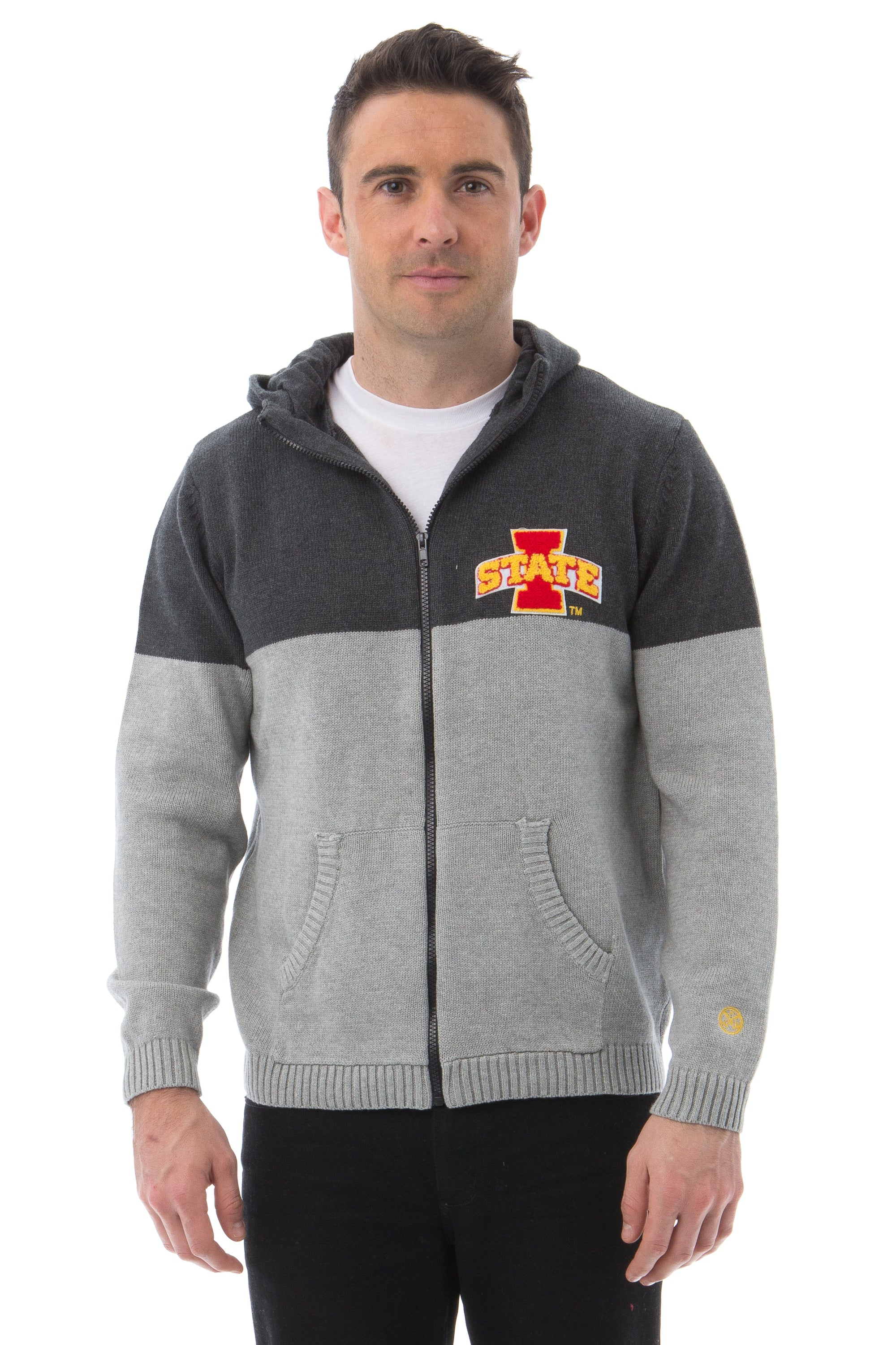 IOWA STATE UNIVERSITY Men's Color Block Zip