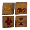 IOWA STATE UNIVERSITY Reclaimed Barn Beam Coaster Set