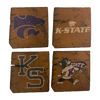 KANSAS STATE UNIVERSITY Reclaimed Barn Beam Coaster Set