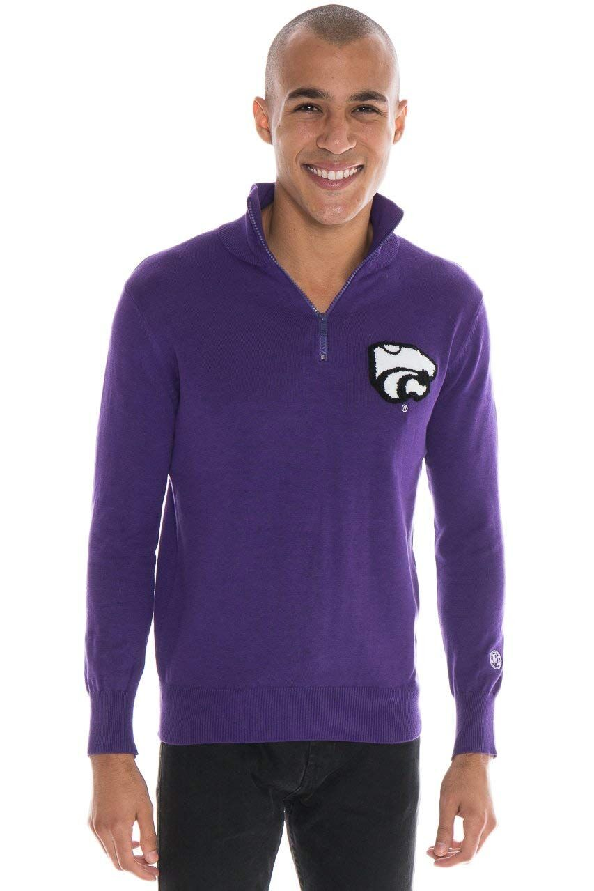 KANSAS STATE UNIVERSITY Men's Quarter Zip Sweater