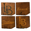 CALIFORNIA STATE UNIVERSITY, LONG BEACH Reclaimed Barn Beam Coaster Set