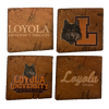 LOYOLA UNIVERSITY CHICAGO Reclaimed Barn Beam Coaster Set