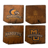 MARQUETTE UNIVERSITY Reclaimed Barn Beam Coaster Set