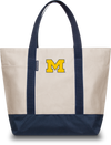 UNIVERSITY OF MICHIGAN Wolverines Hudson Sutler Weekender Tote Cream