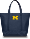 UNIVERSITY OF MICHIGAN Wolverines Hudson Sutler Weekender Tote Blue