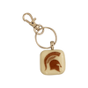 MICHIGAN STATE UNIVERSITY Spartan Glass Key Chain