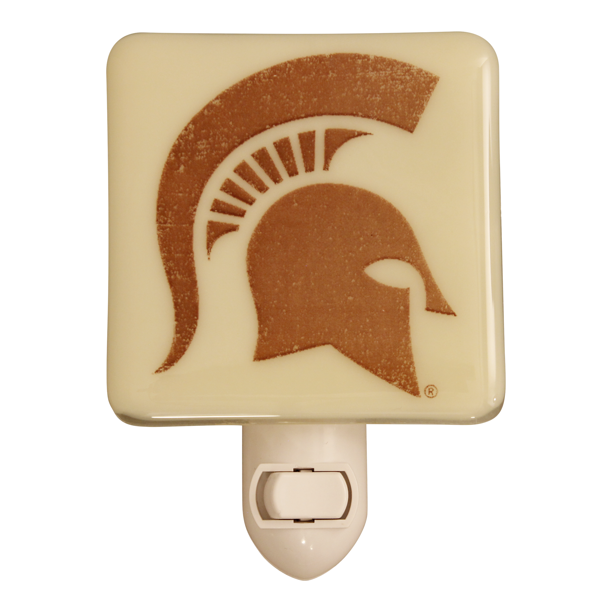MICHIGAN STATE UNIVERSITY Spartan Glass Night Light
