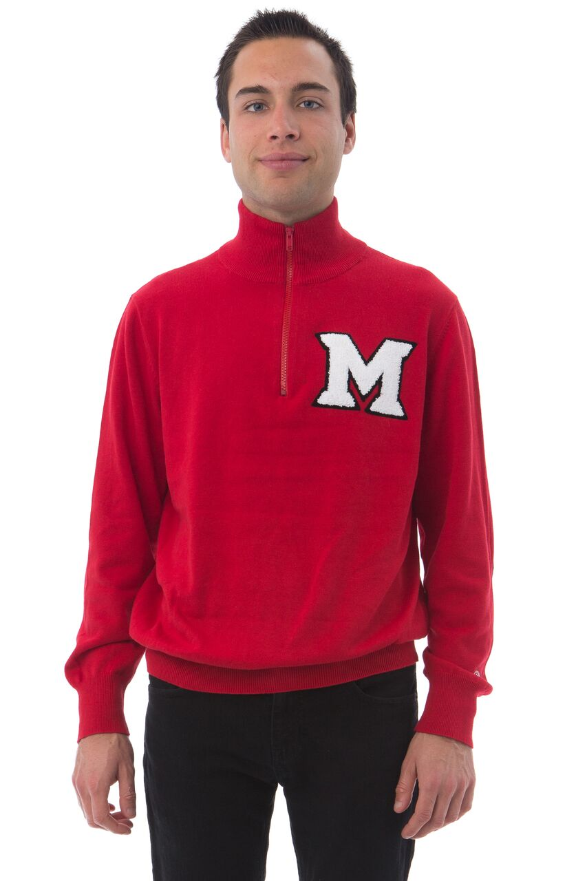 MIAMI UNIVERSITY Men's Quarter Zip Sweater