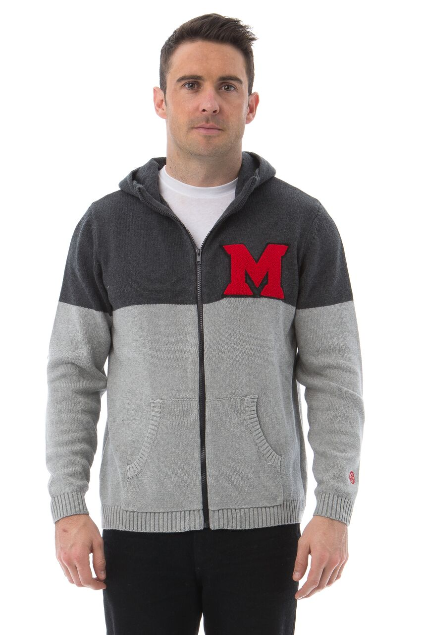MIAMI UNIVERSITY Men's Color Block Zip