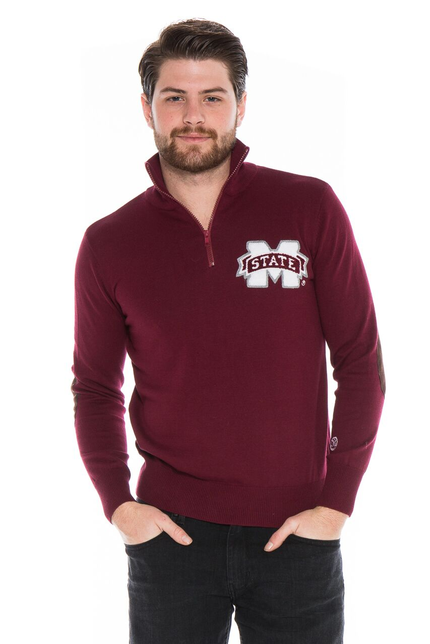 MISSISSIPPI STATE UNIVERSITY Men's Quarter Zip Sweater