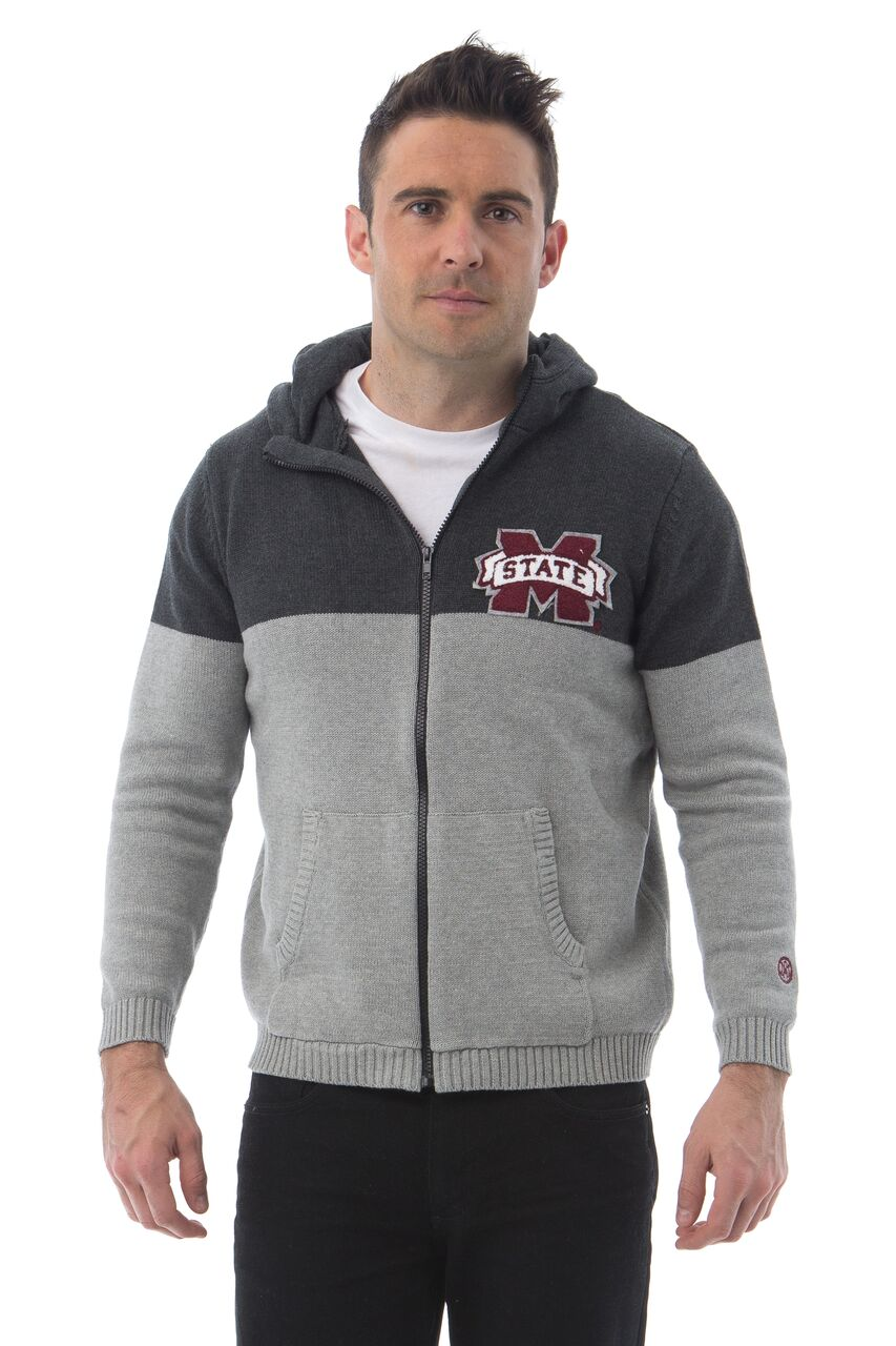 MISSISSIPPI STATE UNIVERSITY Men's Color Block Zip
