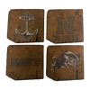 US NAVAL ACADEMY Reclaimed Barn Beam Coaster Set