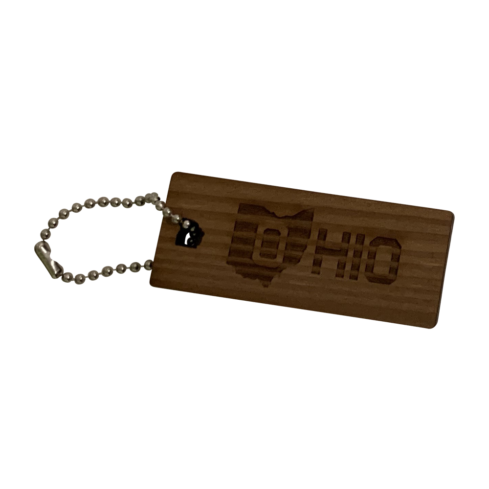 Ohio Reclaimed Redwood Keychain