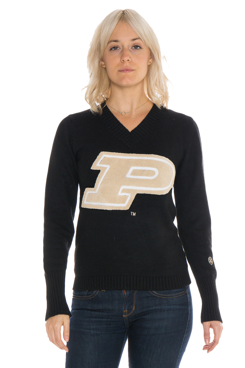 PURDUE UNIVERSITY Boilermakers Women's V-Neck Sweater