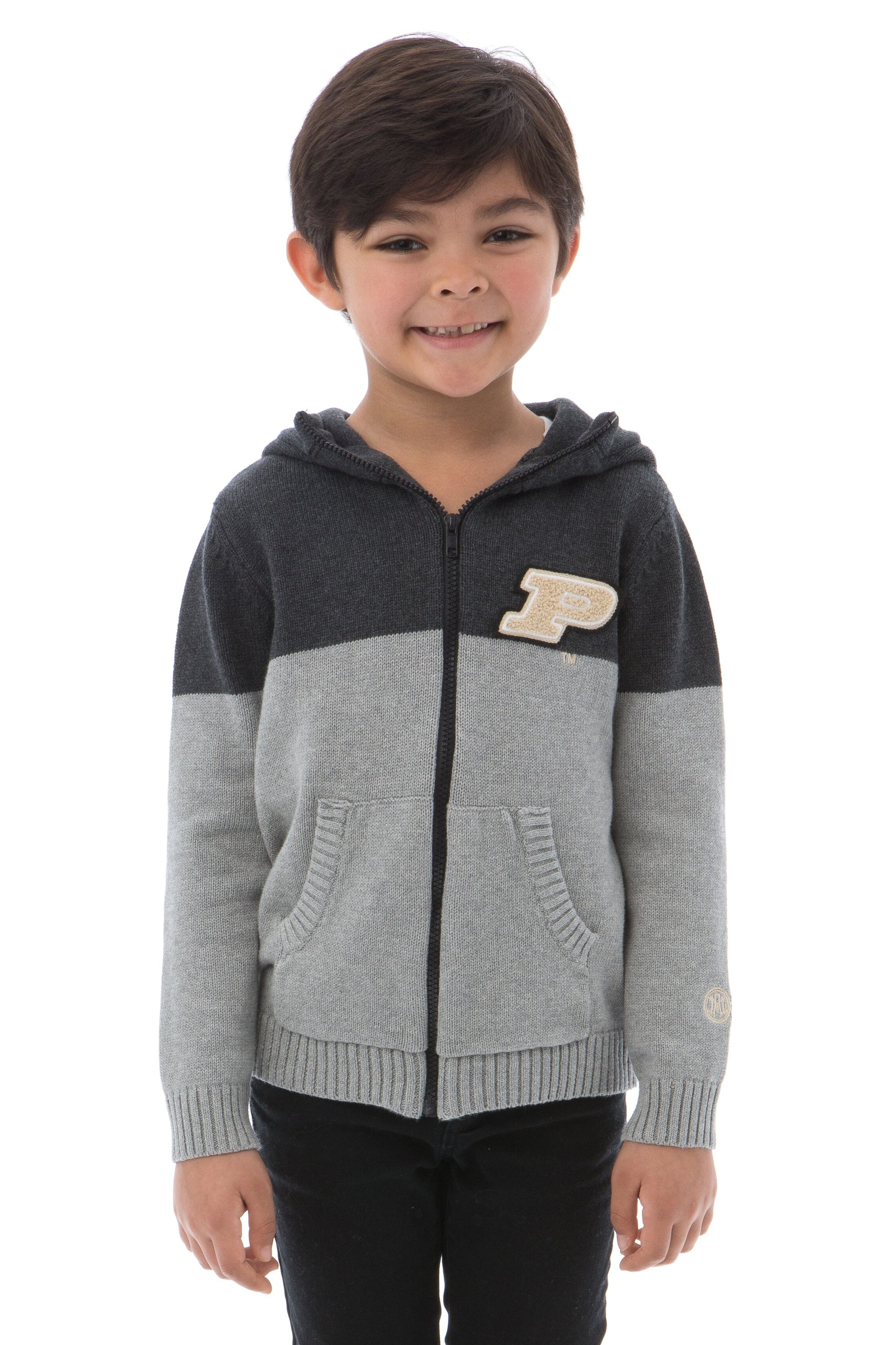 PURDUE UNIVERSITY Boilermakers Boy's Color Block Zip