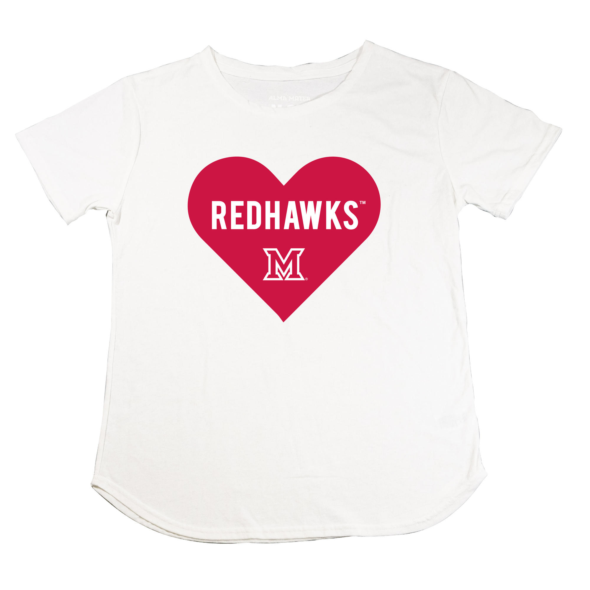 MIAMI UNIVERSITY Redhawks Knockout Heart Center Chest Men's Recycled Tee