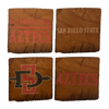 SAN DIEGO STATE UNIVERSITY Reclaimed Barn Beam Coaster Set