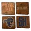 SETON HALL UNIVERSITY Reclaimed Barn Beam Coaster Set